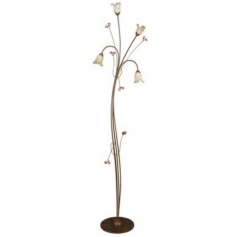 Klassieke Rima vloerlamp, roestkleur