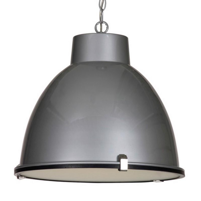 Fons hanglamp, industrieel, zilver
