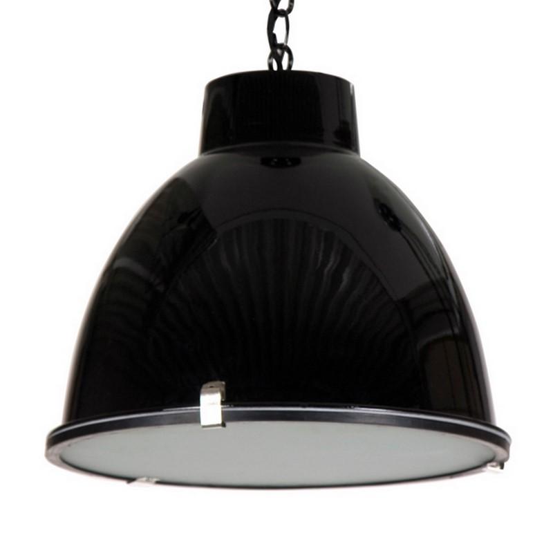 Fons hanglamp, industrieel, glanzend zwart