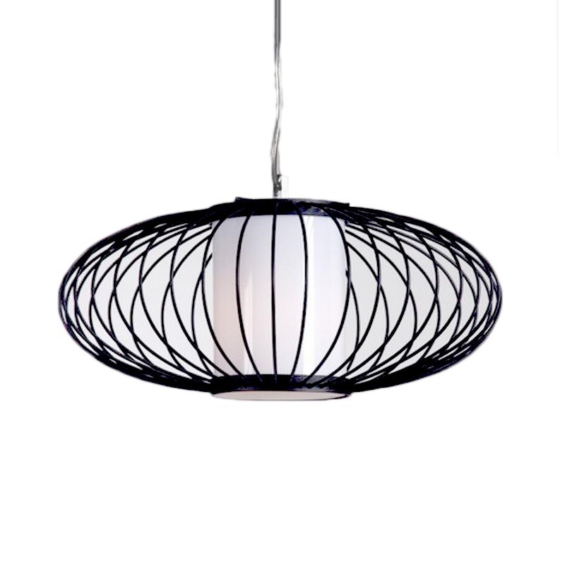 Kleine Edward hanglamp, spijlen, zwart
