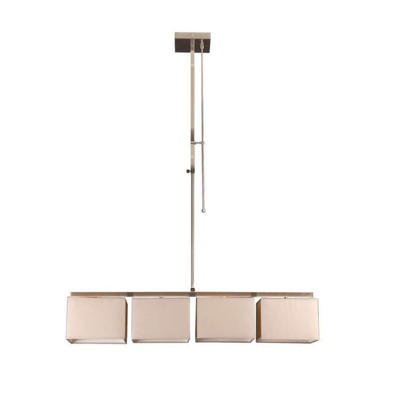 Moderne Flinn hanglamp, vierkant, creme