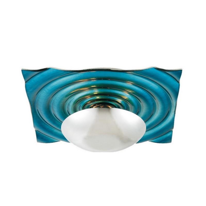 Zelda plafondlamp blauw, vierkant
