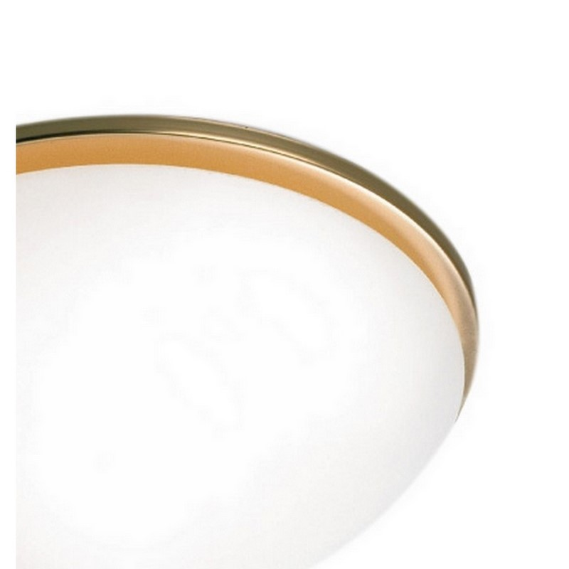 Alessandra plafondlamp, wit en koper