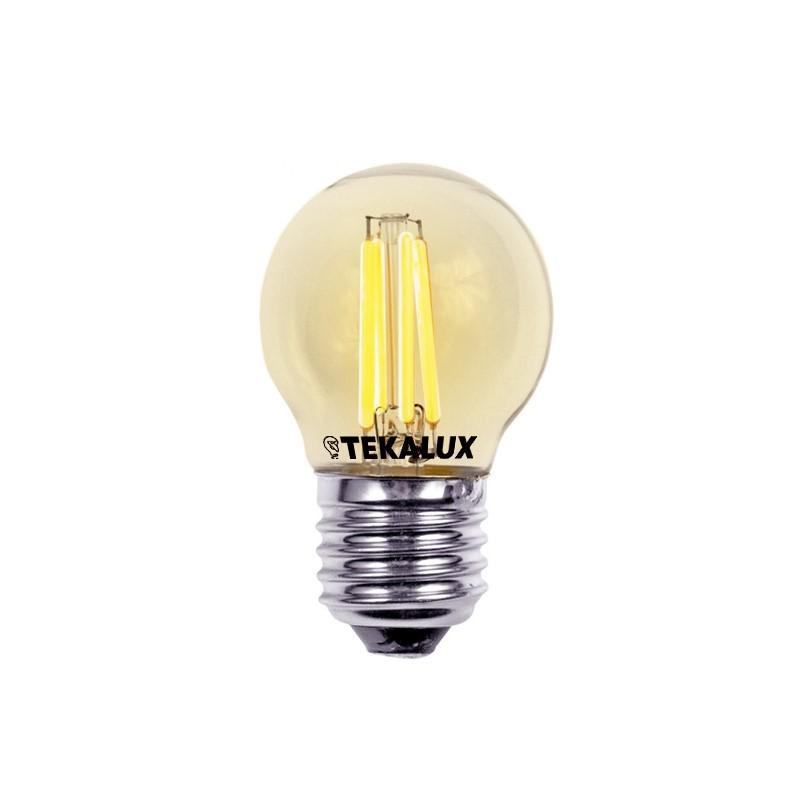 Tekalux Coda E27 LED kogellamp, 2700k, 4w