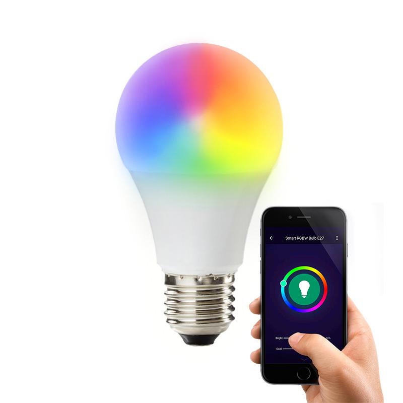 E27 Wifi Smart LED Lamp, alle kleuren en warm wit