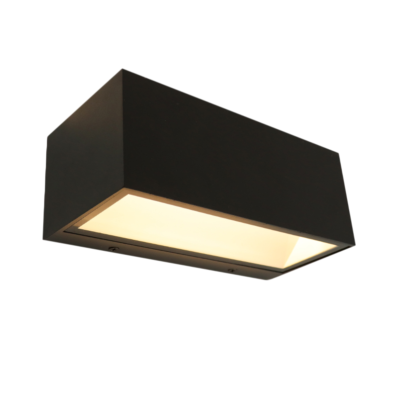 Zwarte up/down buitenlamp Cailey, met geïntegreerd LED, extra breed