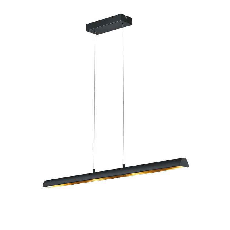 Blenda hanglamp, smal, zwart