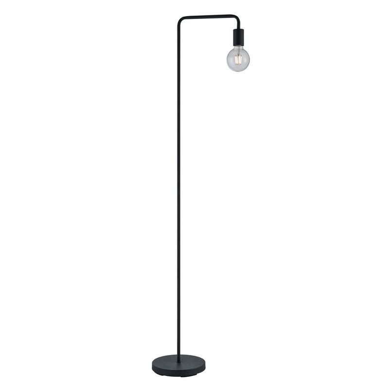 Mat Zwarte vloerlamp Nyby, Modern