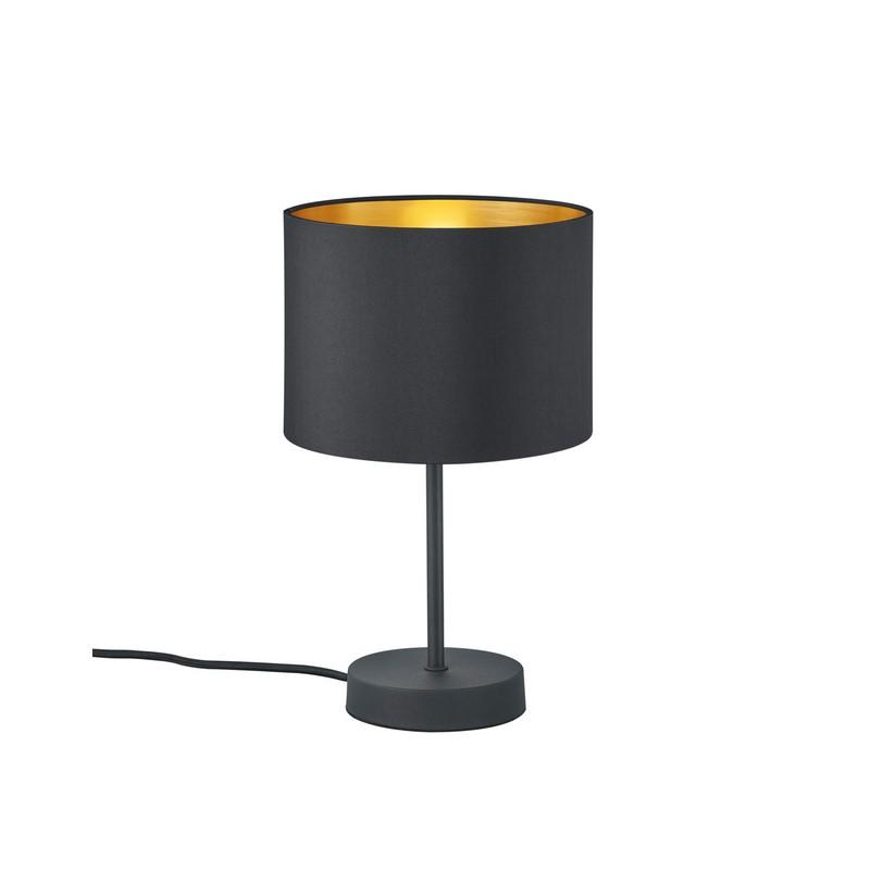 Mat Zwarte tafellamp Nordbyen, Modern