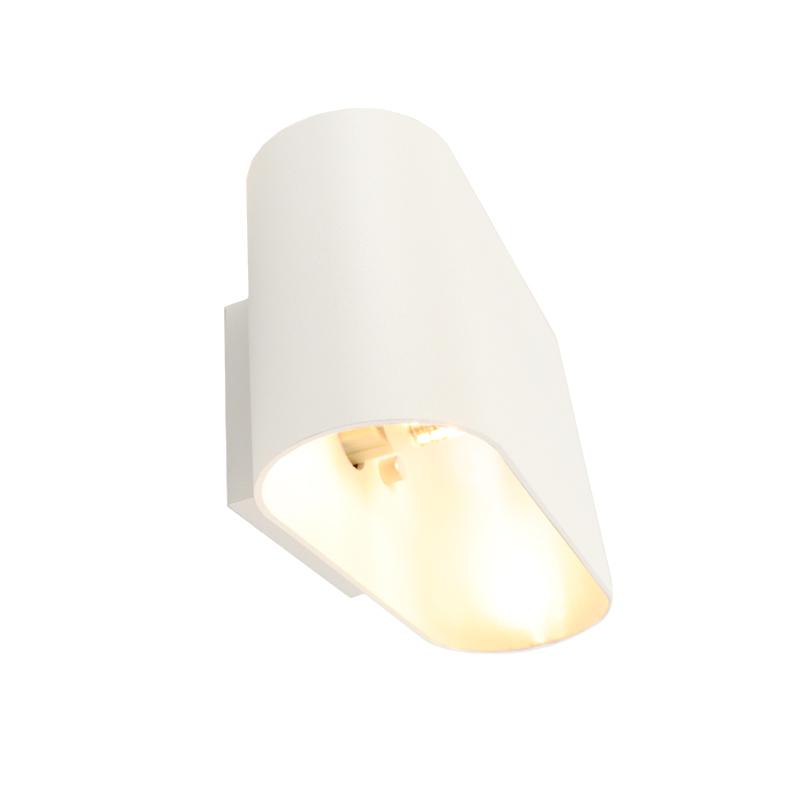 Aluminium wandlamp Rodigo, Wit
