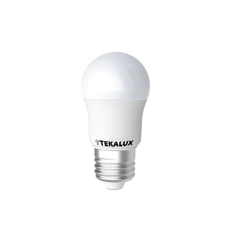Dimbare Tekalux Cona E27 LED kogellamp, 4,5W, 2700k