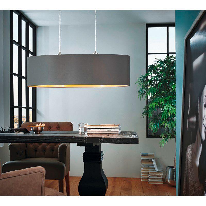 Ongekend Ovale stoffen eettafel hanglamp Terme Cappucino Goud - Lampgigant.nl VJ-66