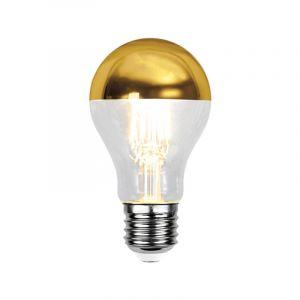 E27 gouden kopspiegel LED lamp Malik, standaard formaat, 4 Watt, 2700K (Extra warm wit)