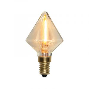 E14 diamant LED lamp Jordy, 0,8 Watt, 2200K (Extra sfeervol wit)