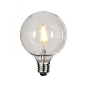 Kunststof G95 E27 lamp voor buiten, 2700K, transparant