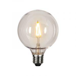 Kunststof G95 E27 lamp voor buiten, 2200K, transparant
