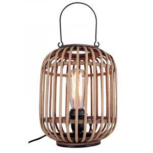 Industriële Tafellamp Asja, zwart, met schakelaar