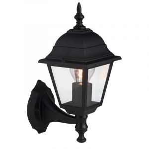 Zwarte buiten wandlamp Adaline
