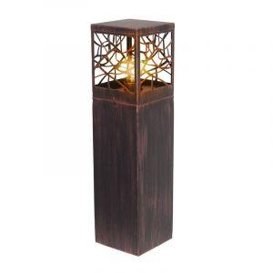 Roestbruine buiten staande lamp Teske