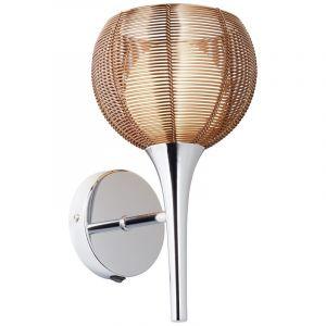 Moderne wandlamp Lize, Brons, Chroom