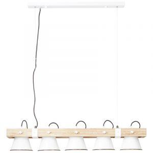 Industriële eettafel hanglamp Audrey, Metaal