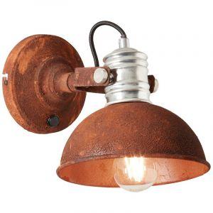 Landelijke wandlamp Alanna, Zwart