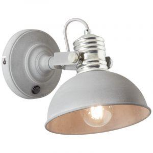 Landelijke wandlamp Alanna, Grijs