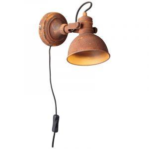 Landelijke wandlamp Alexis, Roestbruin