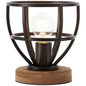Moderne tafellamp Laura, Antiek Zwart