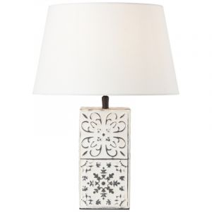 Klassieke Tafellamp Ricardus, Metaal, met Aan/uit schakelaar op het snoer