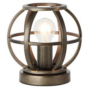 Industriële Tafellamp Waqas, Zwart
