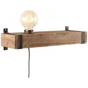 Industriële wandlamp Asli, Metaal, met Aan/uit schakelaar op het snoer