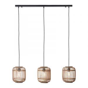 Moderne Hanglamp Brain, Bruin, hout