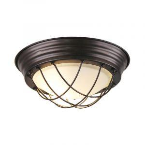 Industriële plafondlamp Aoife, zwart