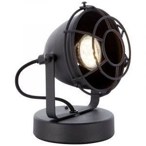 Industriële tafellamp Indy, Zwart steen