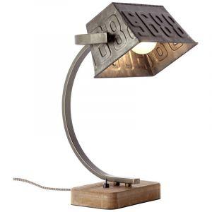 Retro tafellamp Silke, Zwart Staal