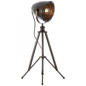Industriële tafellamp Mette, Zwart Staal