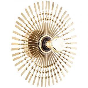 Retro wandlamp Richelle, Metaal