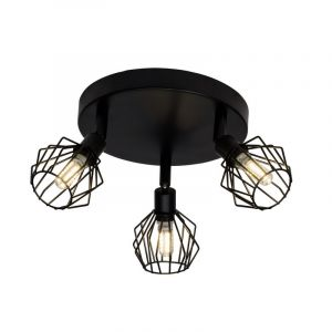 Industriële plafondlamp Elizabeth, Zwart