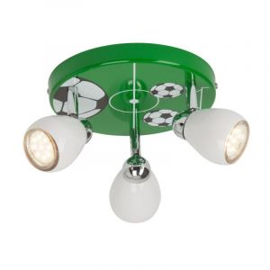 Voetbal plafondspot Carsten, Groen, Wit