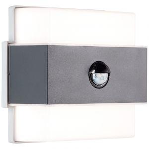 Moderne buiten wandlamp met bewegingssensor Birol, Metaal, 7,5w neutraal wit LED