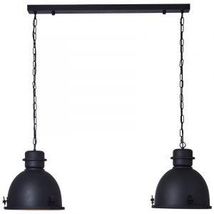 Industriële eettafel hanglamp Senna, Metaal