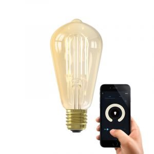 Dim to warm Calex E27 Edison smart lamp, 7w