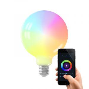 Dimbare Calex E27 smart bollamp G125, 5,5w, RGBW
