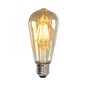 Dimbare Olucia E27 Edison LED lamp, ST58, 5w, Amber glas, 2200k