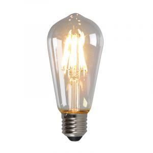 Dimbare Olucia E27 Edison LED lamp, ST58, 5w, Transparant glas, 2700k