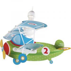 Vliegtuig hanglamp kinderkamer - Groen Blauw