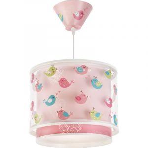Roze vogel hanglamp meisjeskamer