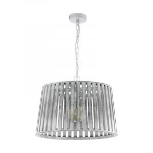 Witte klassieke hanglamp, Karina, staal
