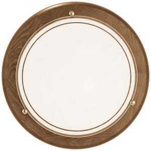 Landelijke Glazen Bruine Witte Transparante wand/plafondlamp Chavelli